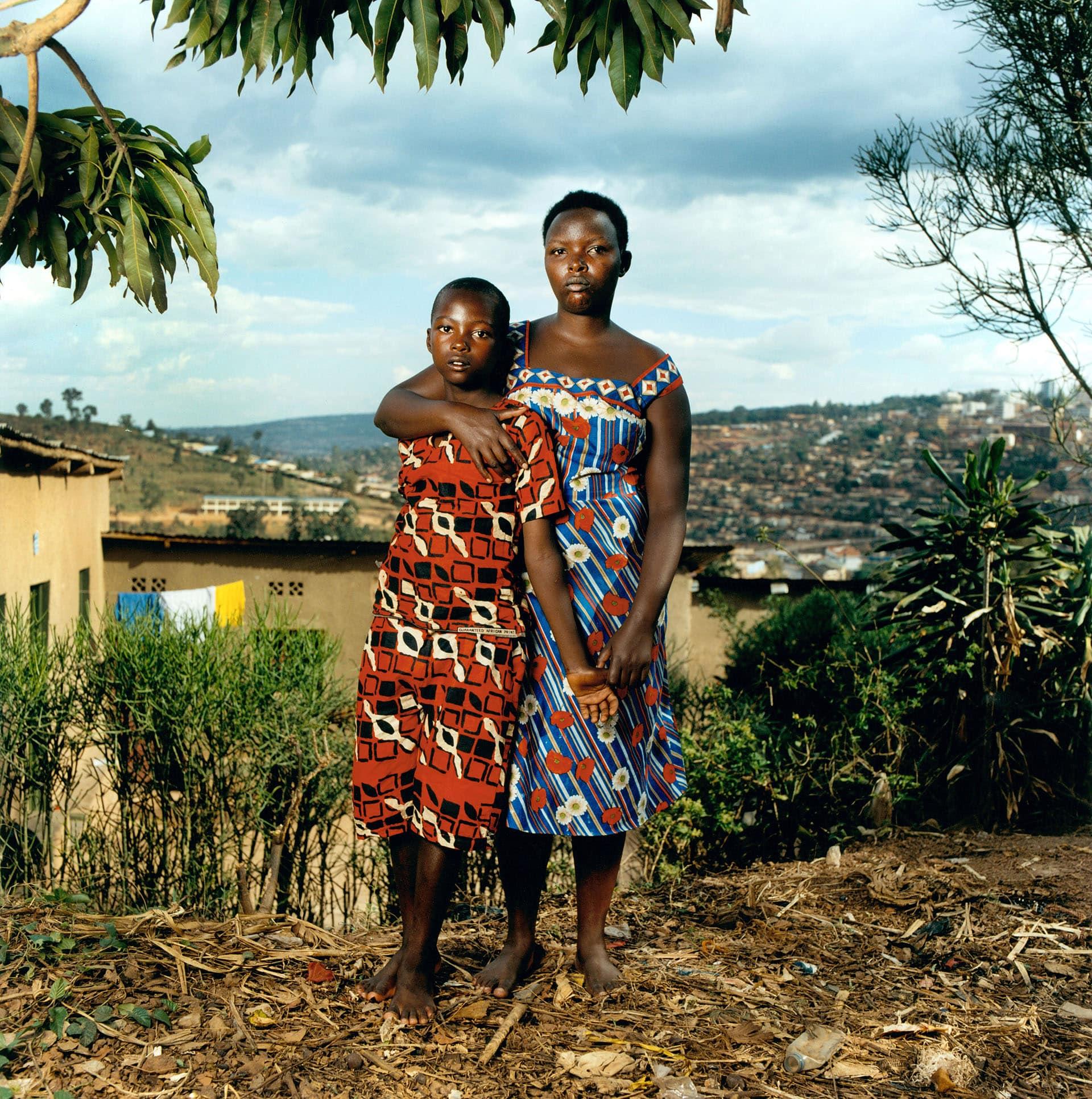 Claudin Mukakalisa (26), and her son Jeandediue Ufiteyezu (11) Gisazi, Rwanda