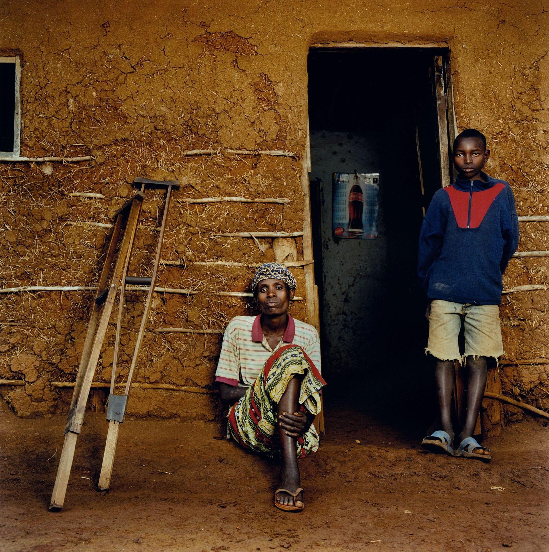 Anastasie Mukarutabana (43) and Theogene Twagirumukiza (12).