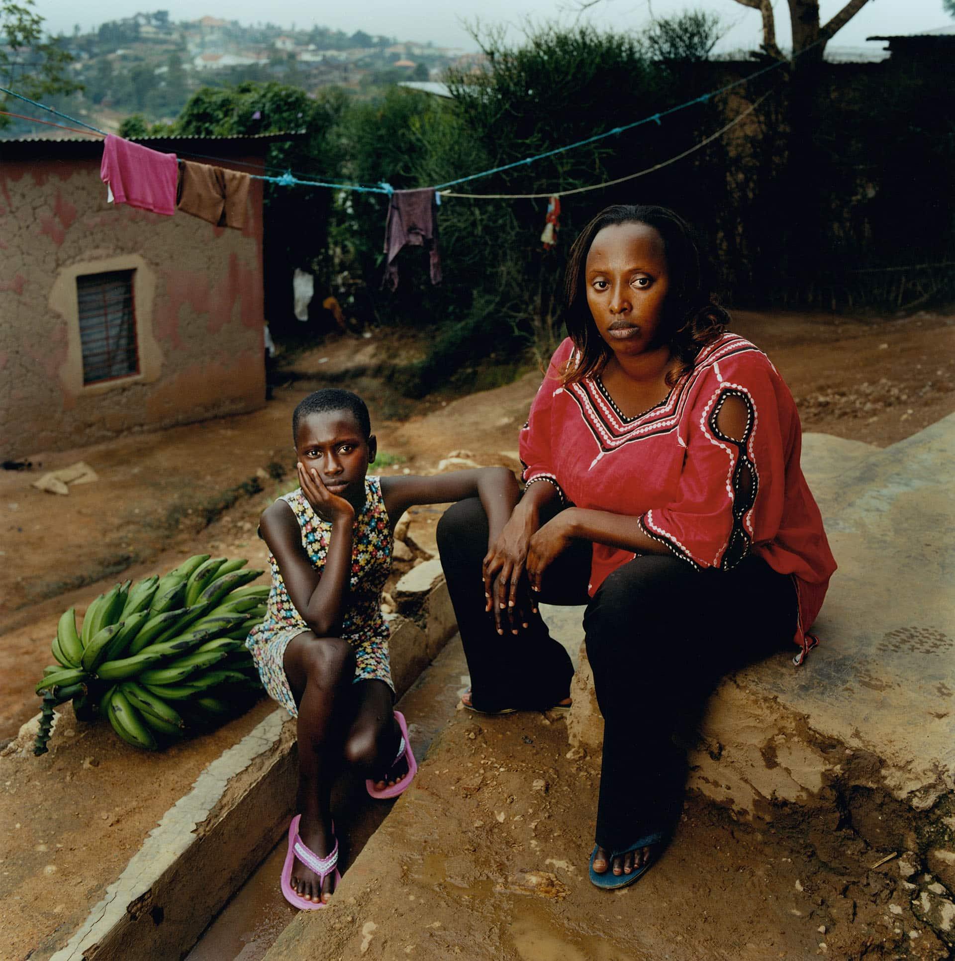 Aline Uwimbabazi HIV+ (26) and her daughter Deborah Umubyeyi (12).