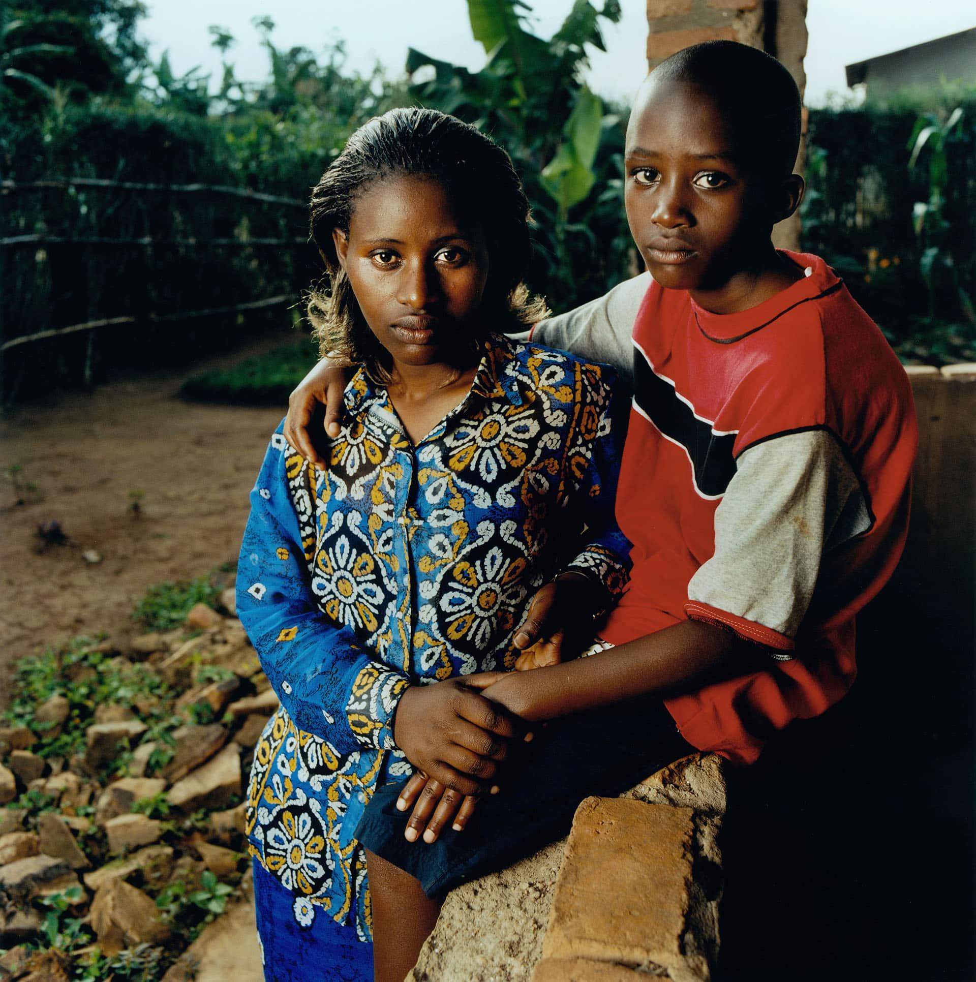 Margaret Mukacyaka, HIV+ and her son Jean-Busco.