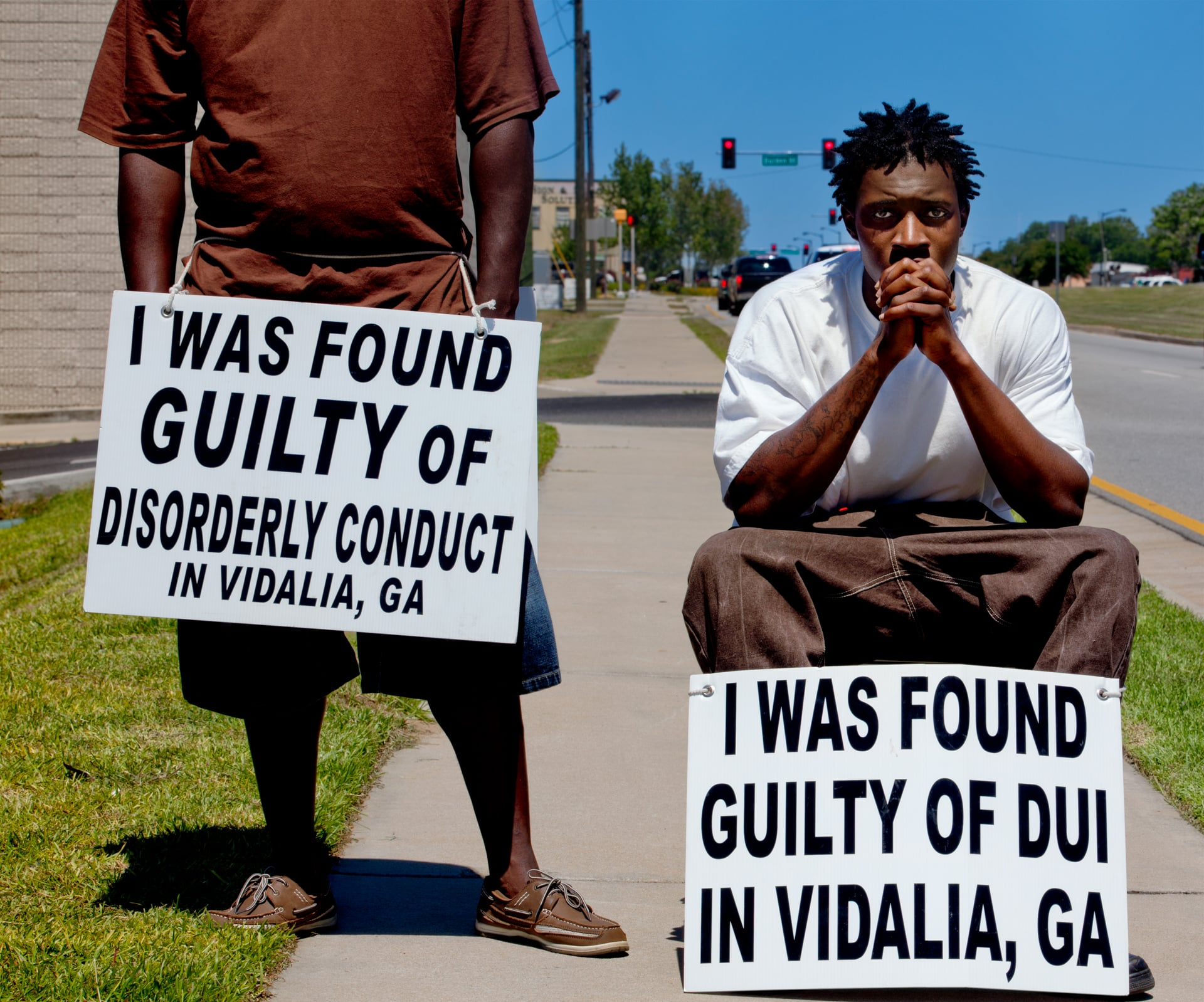 VIDALIA, GEORGIA – MAY 2013: Public shaming on May 24, 2013 in