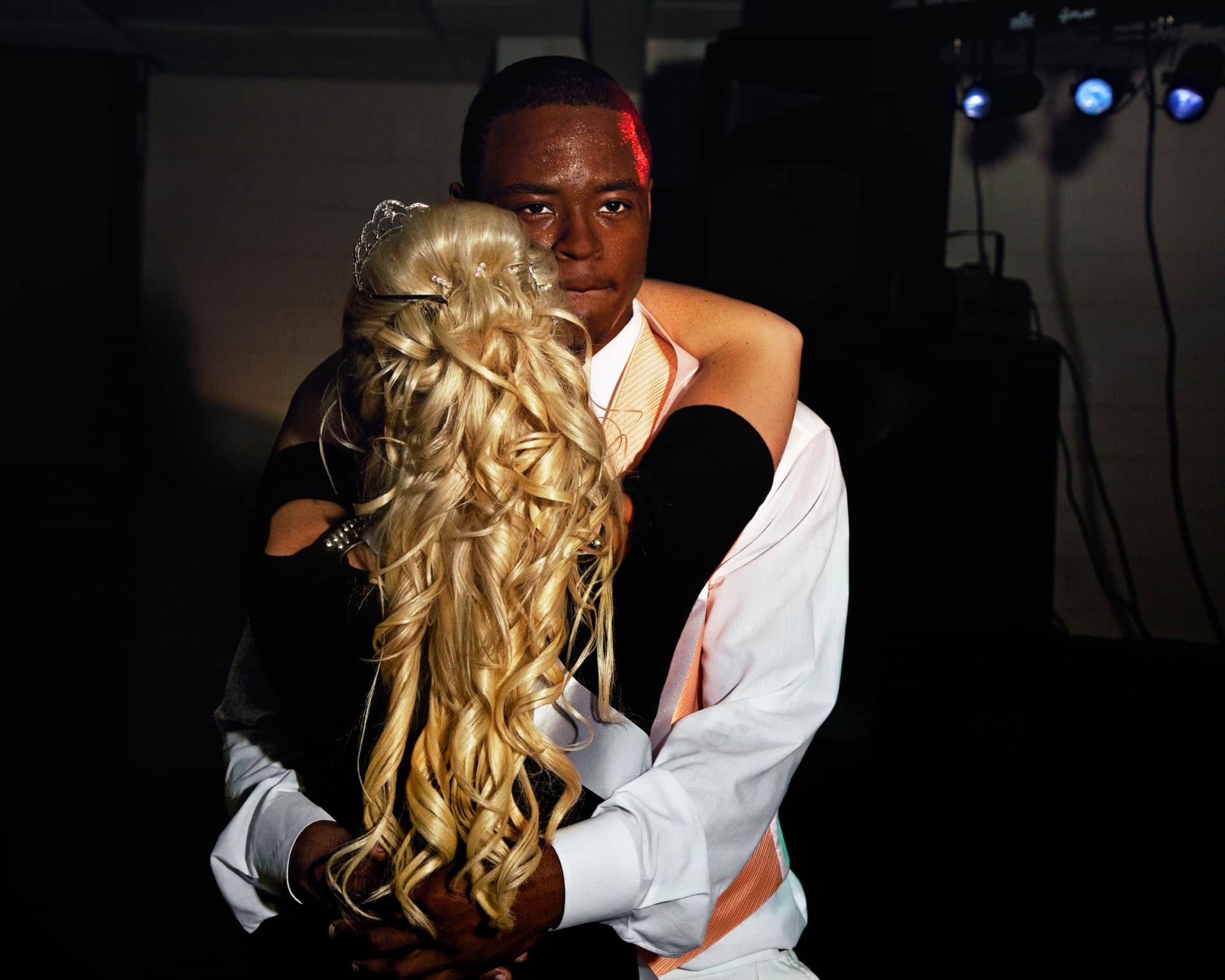 LYONS, GEORGIA – MAY 2011: Prom prince and princess dancing at