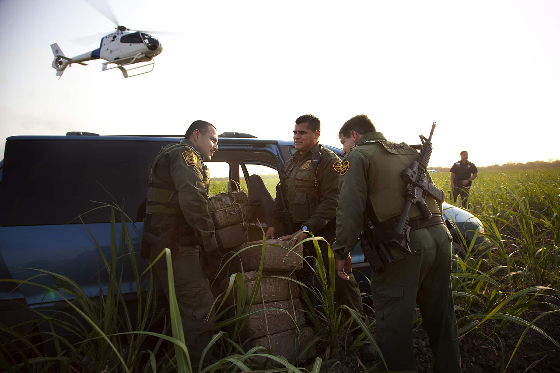 Helicopter unit of the Office of Air and Marine Patrool the border