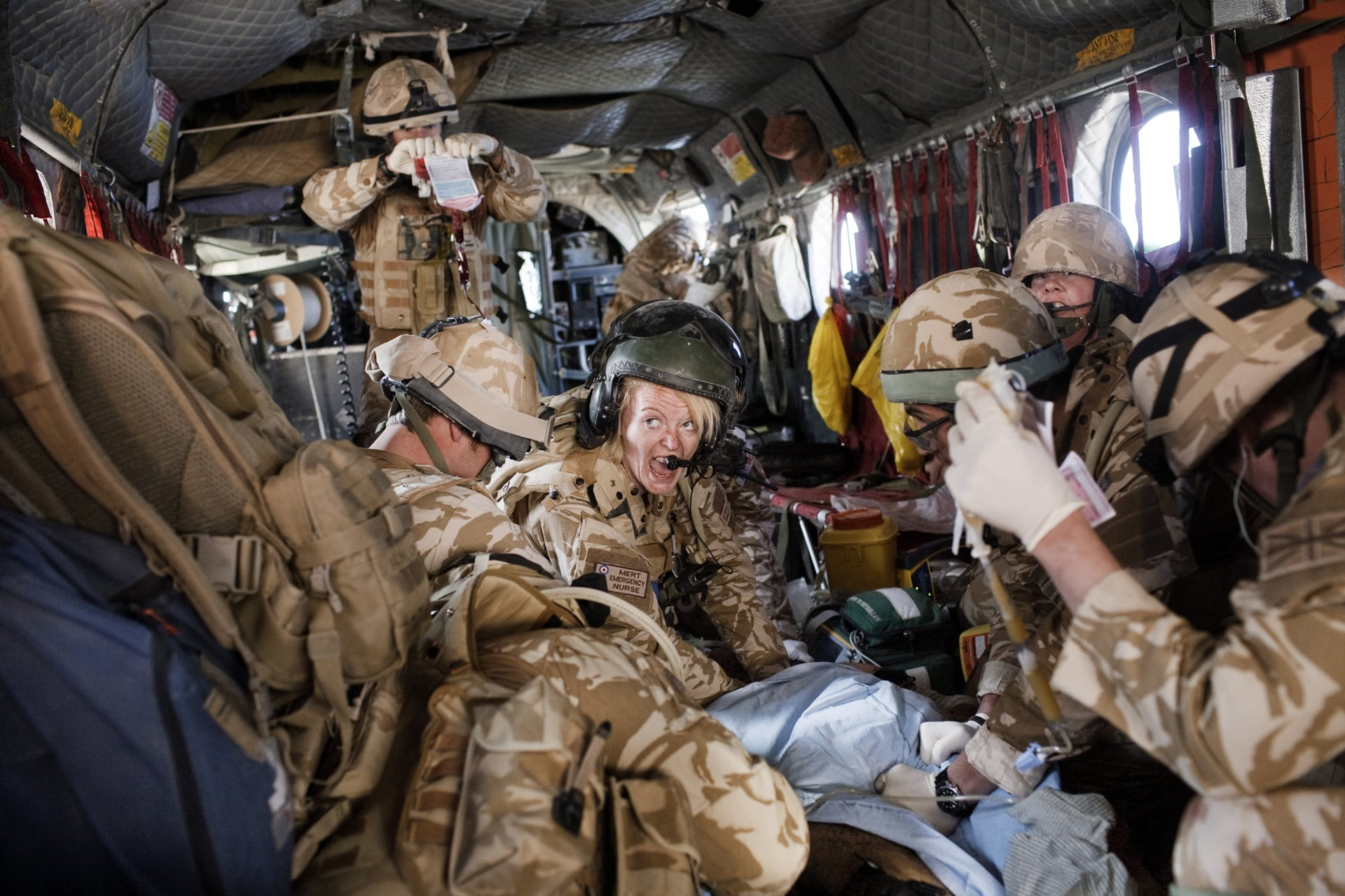 MERT Deliver Casualties At The Camp Bastion Hospital