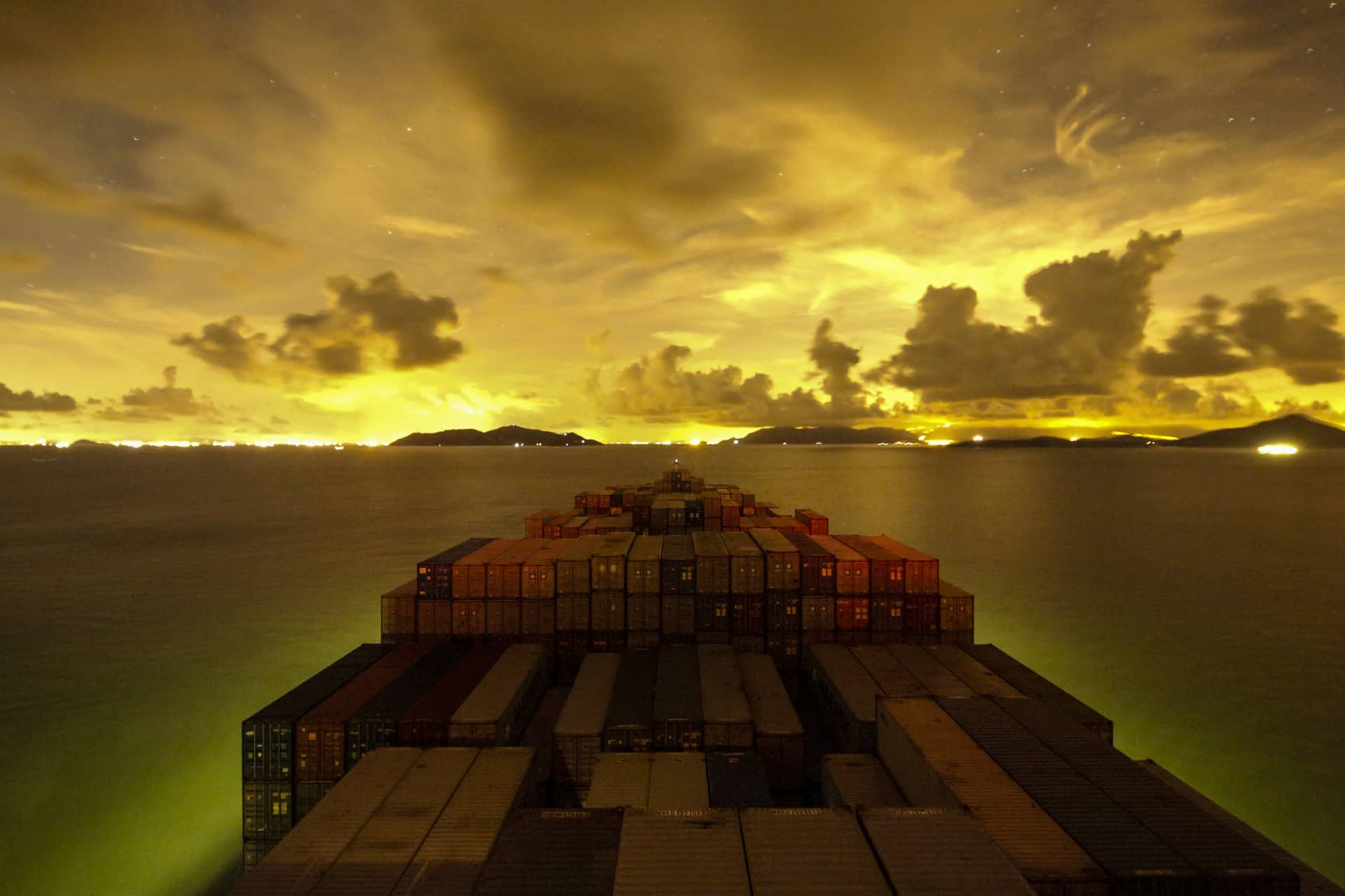 NANSHA CONTAINER PORT,  CHINA – JULY 26, 2014